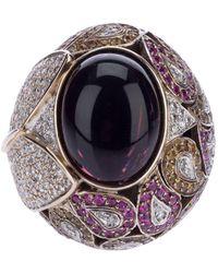 Athena Pink Sapphire And Diamond Robeline Ball Ring - Meerkleurig