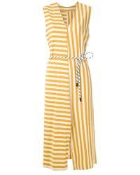 Osklen Summer Stripe ベルテッドドレス - イエロー