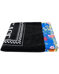 Versace Полотенце С Цветочной Окантовкой - Черный