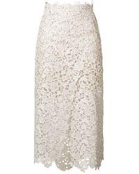 Ermanno Scervino - Embroidered Flared Midi Skirt - Lyst