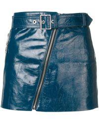Manokhi Biker Skirt - Blue