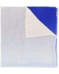 Snobby Sheep カシミア スカーフ - ブルー