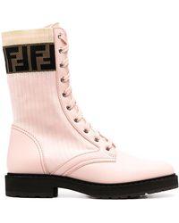 Fendi Ботинки Rockoko В Стиле Милитари - Розовый