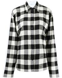 Pushbutton Hemd mit Vichy-Karomuster - Schwarz