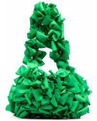 Molly Goddard Sac cabas à nœuds - Vert