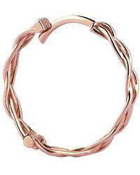 Kismet by Milka 14kt Rose Gold Plain Braided Hoop Earrings - Pink