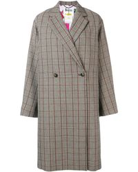 Stella McCartney All Together Now Check Coat - Black