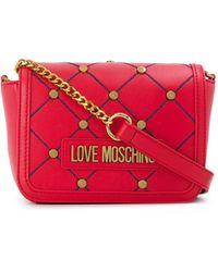 Love Moschino Crossbodytas Met Logo - Rood