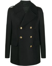 Givenchy Embossed-buttons Double-breasted Coat - Black