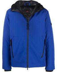 Peuterey フーデッド ジップジャケット - ブルー