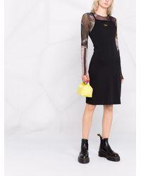 Nike Платье Миди С Нашивкой-логотипом - Черный