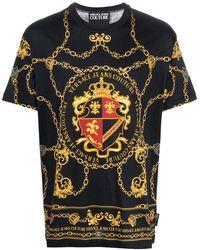 Versace Jeans Couture Футболка С Принтом - Черный