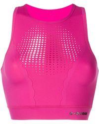 Pinko - Cropped Mesh Tank Top - Lyst