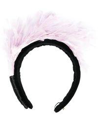 Parlor Feather-detail Headband - Black
