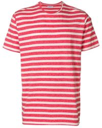 President's Striped T-shirt - Red
