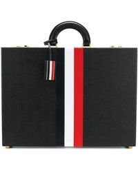 Thom Browne Attache Case With Red - Black