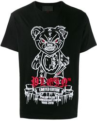Philipp Plein 20th Anniversary Tシャツ - ブラック