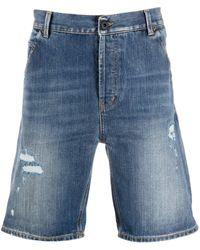 Dondup Distressed Denim Shorts - Blue