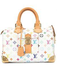 Louis Vuitton Speedy Reisetasche, 30cm - Weiß