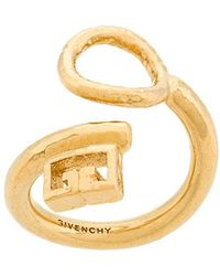Givenchy - Double G Curved Ring - Lyst