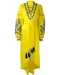 Yuliya Magdych 'eden Tree' Dress - Geel