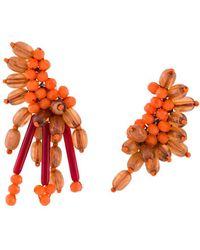 Dorothee Schumacher Beaded Dreams Embroidered Earrings - Orange