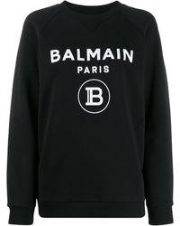Balmain Logo print sweatshirt - Noir