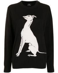 PS by Paul Smith Greyhound インターシャ セーター - ブラック