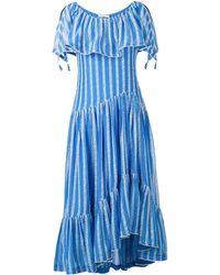 Tory Burch フローラル ドレス - ブルー