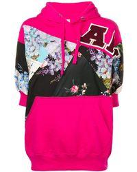 Antonio Marras Sweatshirt mit Kapuze - Pink