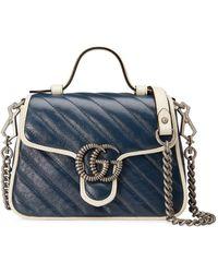 Gucci Bolso GG Marmont mini - Azul