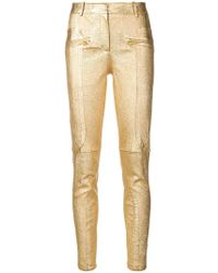 Sies Marjan - Metallic Slim-fit Trousers - Lyst
