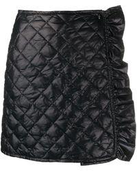 Moncler キルティング ラッフル スカート - ブラック