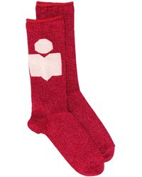 Isabel Marant Fine Knitted Socks - Red