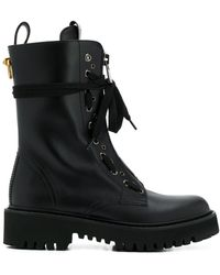 Valentino Valentino Garavani Combat Boots - Black