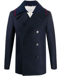 Golden Goose Deluxe Brand Double-breasted Peacoat - Blue