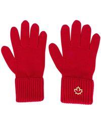 DSquared² - Logo Plaque Gloves - Lyst