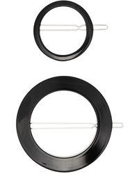 Valet Studio Sarah Round Hair Clip Set - Black
