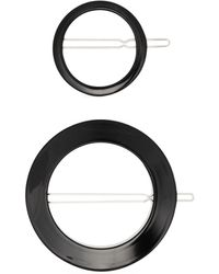 Valet Studio Black Sarah round hair clip set - Nero