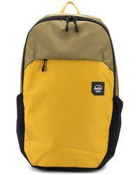 Herschel Supply Co. Zweifarbiger Rucksack mit Logo-Patch - Grün