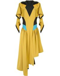 Kiko Kostadinov Asymmetric Cut-out Dress - Yellow