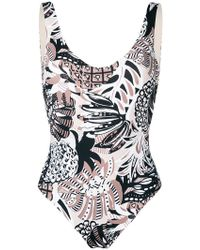 Fisico - Tropical Print Swimsuit - Lyst