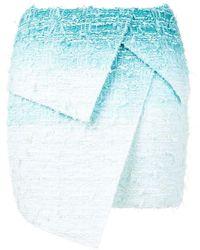 Balmain レイヤード スカート - ブルー