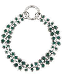 N°21 Crystal Embellished Choker - Metallic