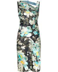 Dior Платье С Цветочным Принтом Pre-owned - Зеленый