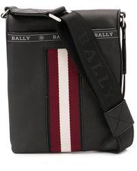 Bally ストライプ メッセンジャーバッグ - ブラック