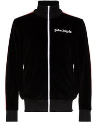 Palm Angels Logo Print Track Jacket - Black
