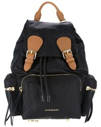 Burberry - Buckled Backpack - Lyst