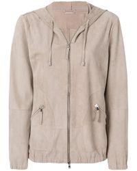 Eleventy - Hooded Zipped Jacket - Lyst