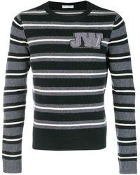 JW Anderson Striped Crew Neck Sweater - Black